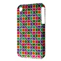 Modernist Floral Tiles Apple iPhone 3G/3GS Hardshell Case (PC+Silicone) View3