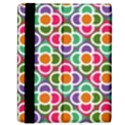 Modernist Floral Tiles Samsung Galaxy Tab 10.1  P7500 Flip Case View2