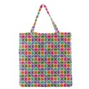 Modernist Floral Tiles Grocery Tote Bag View1