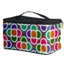 Modernist Floral Tiles Cosmetic Storage Case View3