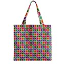 Modernist Floral Tiles Zipper Grocery Tote Bag View2