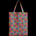 Modernist Floral Tiles Zipper Classic Tote Bag View2