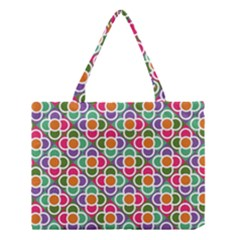 Modernist Floral Tiles Medium Tote Bag