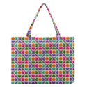 Modernist Floral Tiles Medium Tote Bag View1