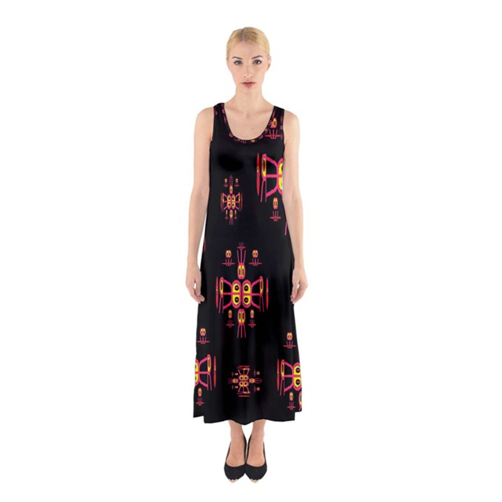 Alphabet Shirtjhjervbretili Sleeveless Maxi Dress