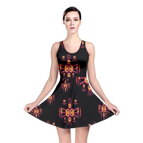 Alphabet Shirtjhjervbretili Reversible Skater Dress