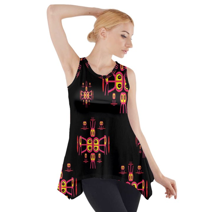 Alphabet Shirtjhjervbretili Side Drop Tank Tunic