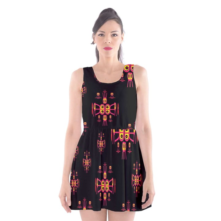 Alphabet Shirtjhjervbretili Scoop Neck Skater Dress