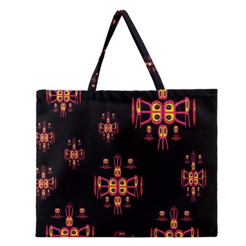 Alphabet Shirtjhjervbretili Zipper Large Tote Bag