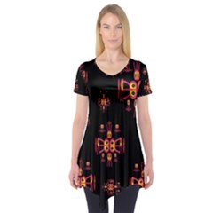 Alphabet Shirtjhjervbretili Short Sleeve Tunic