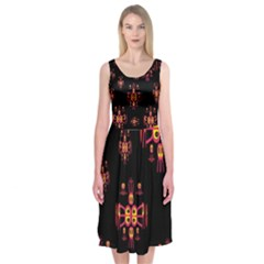 Alphabet Shirtjhjervbretili Midi Sleeveless Dress