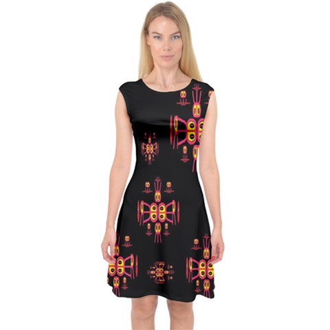 Alphabet Shirtjhjervbretili Capsleeve Midi Dress
