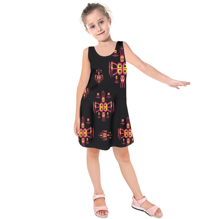 Alphabet Shirtjhjervbretili Kids  Sleeveless Dress