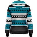 Turquoise, Black And White Bands Women s Pullover Hoodie View2