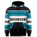 Turquoise, Black And White Bands Men s Zipper Hoodie View1