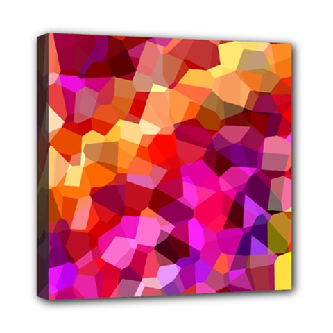 Geometric Fall Pattern Mini Canvas 8  x 8