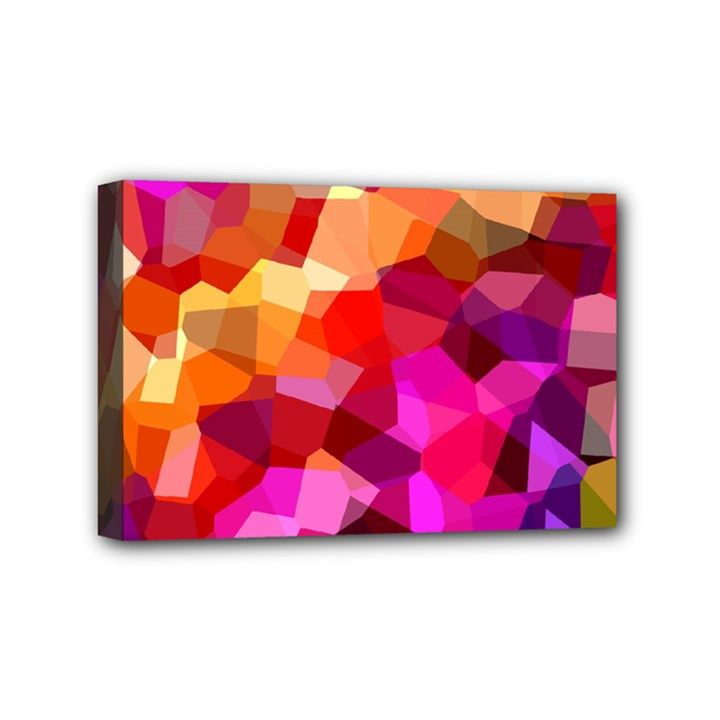 Geometric Fall Pattern Mini Canvas 6  x 4