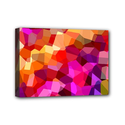 Geometric Fall Pattern Mini Canvas 7  x 5