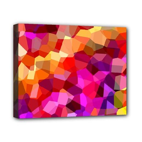 Geometric Fall Pattern Canvas 10  X 8