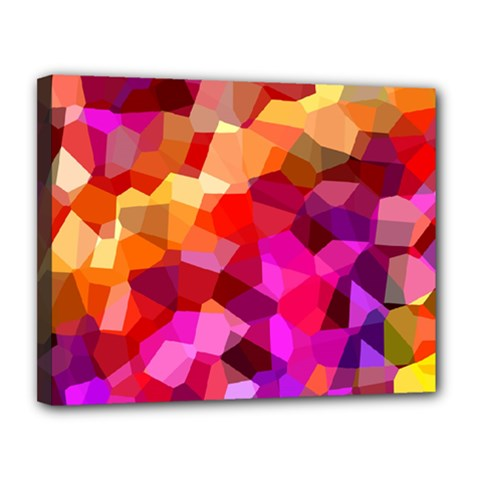 Geometric Fall Pattern Canvas 14  x 11