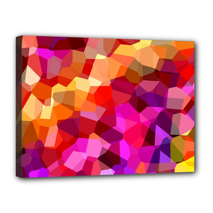 Geometric Fall Pattern Canvas 16  x 12