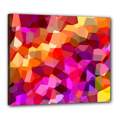 Geometric Fall Pattern Canvas 24  X 20