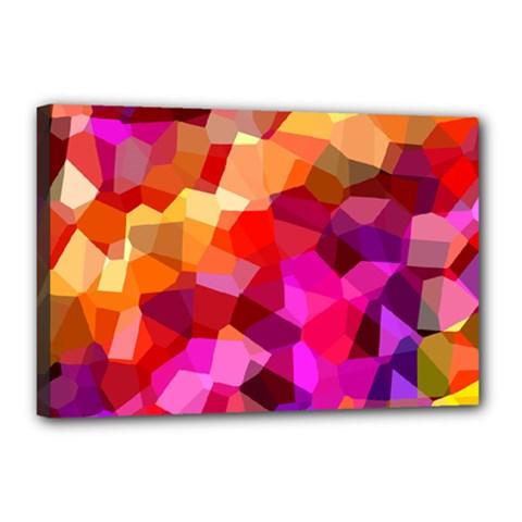 Geometric Fall Pattern Canvas 18  X 12
