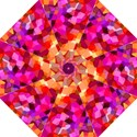 Geometric Fall Pattern Folding Umbrellas View1