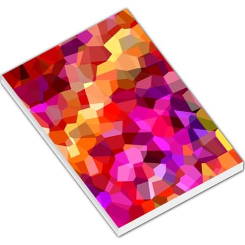 Geometric Fall Pattern Large Memo Pads
