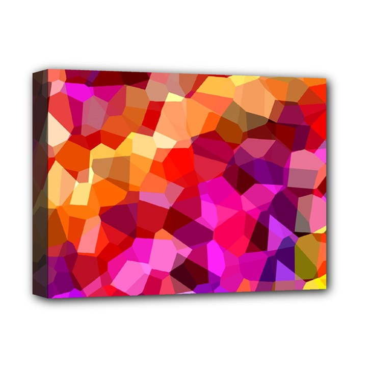 Geometric Fall Pattern Deluxe Canvas 16  x 12