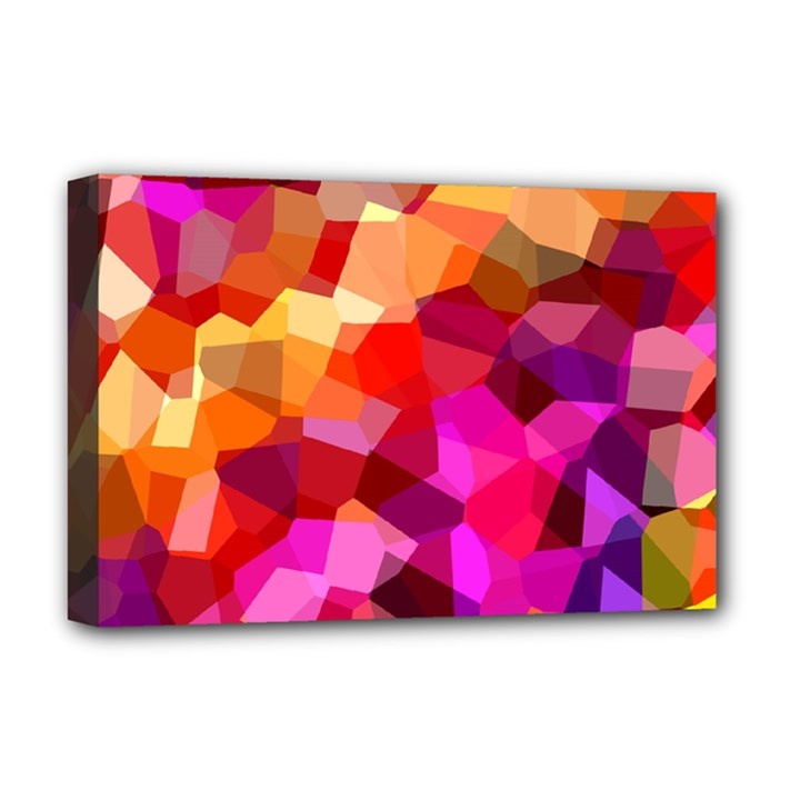 Geometric Fall Pattern Deluxe Canvas 18  x 12