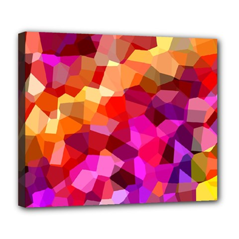 Geometric Fall Pattern Deluxe Canvas 24  x 20