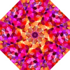Geometric Fall Pattern Hook Handle Umbrellas (Medium)