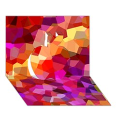 Geometric Fall Pattern Apple 3D Greeting Card (7x5)