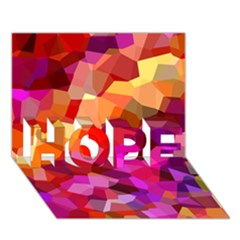 Geometric Fall Pattern HOPE 3D Greeting Card (7x5)