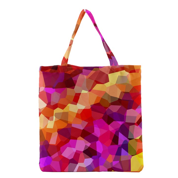 Geometric Fall Pattern Grocery Tote Bag