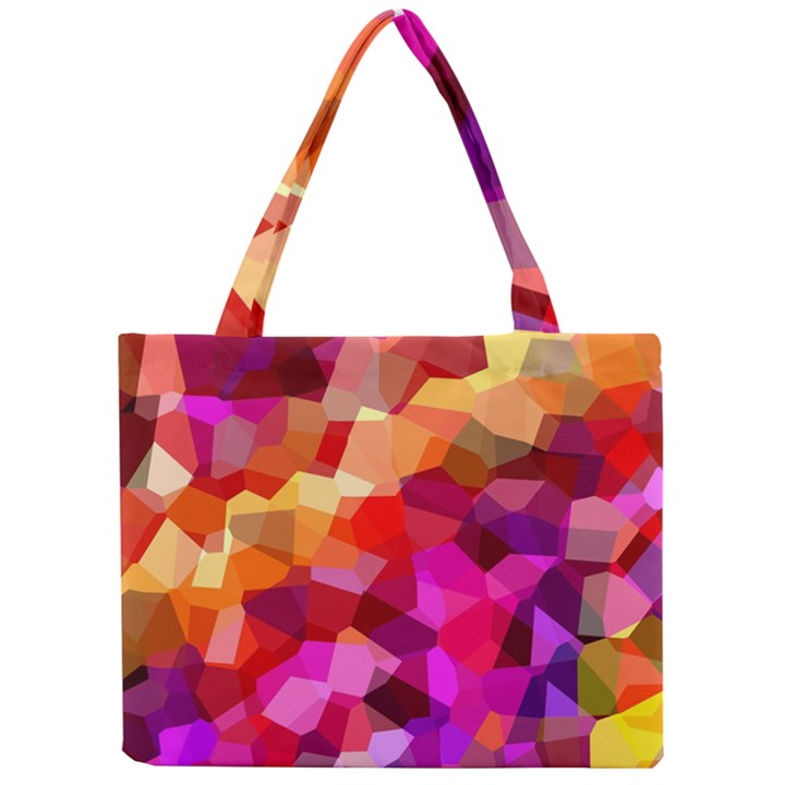 Geometric Fall Pattern Mini Tote Bag