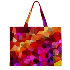 Geometric Fall Pattern Zipper Mini Tote Bag