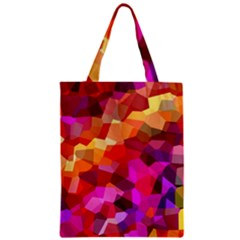 Geometric Fall Pattern Zipper Classic Tote Bag