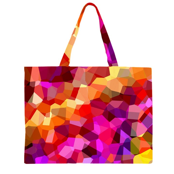 Geometric Fall Pattern Large Tote Bag