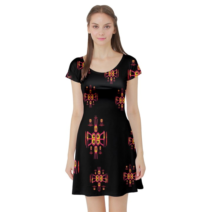 Alphabet Shirtjhjervbretilihhj Short Sleeve Skater Dress