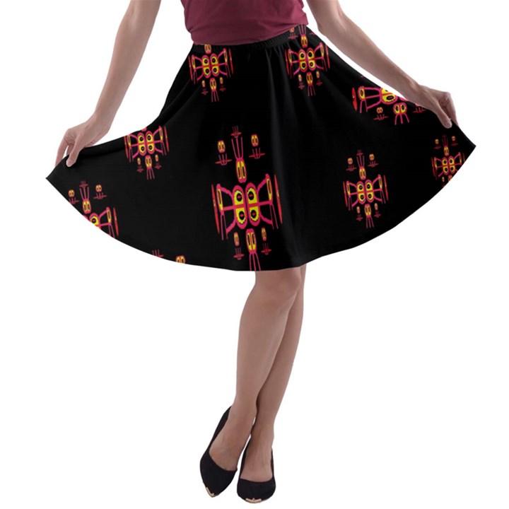 Alphabet Shirtjhjervbretilihhj A-line Skater Skirt