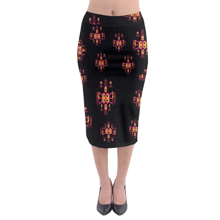 Alphabet Shirtjhjervbretilihhj Midi Pencil Skirt