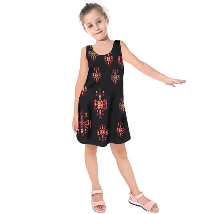 Alphabet Shirtjhjervbretilihhj Kids  Sleeveless Dress