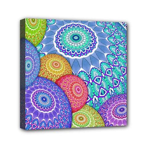 India Ornaments Mandala Balls Multicolored Mini Canvas 6  x 6