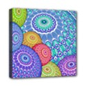 India Ornaments Mandala Balls Multicolored Mini Canvas 8  x 8  View1
