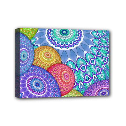 India Ornaments Mandala Balls Multicolored Mini Canvas 7  x 5