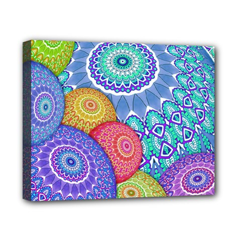India Ornaments Mandala Balls Multicolored Canvas 10  x 8