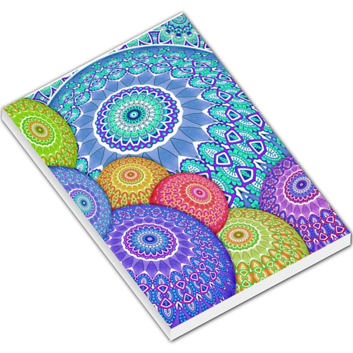 India Ornaments Mandala Balls Multicolored Large Memo Pads