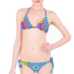 India Ornaments Mandala Balls Multicolored Bikini Set